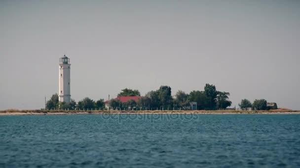 Maják na ostrově Biryuchyi, Ukrajina