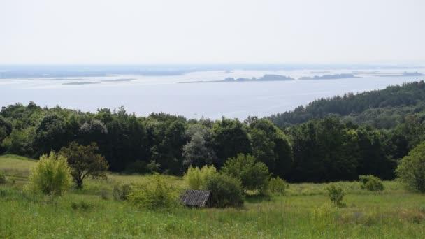Panorama řeky Dněpr v létě