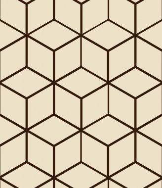 Seamless pattern made from hexagons