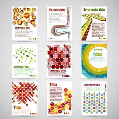 Set of nine letterhead templates