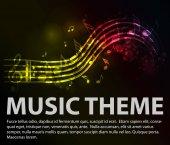 Zenei téma világítás hangok