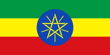 official Flag of Ethiopi