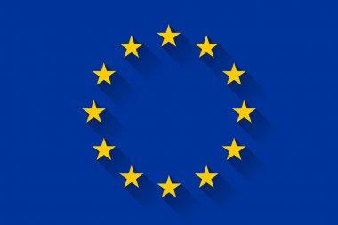 Flag of European Union, vector illustration stock vector