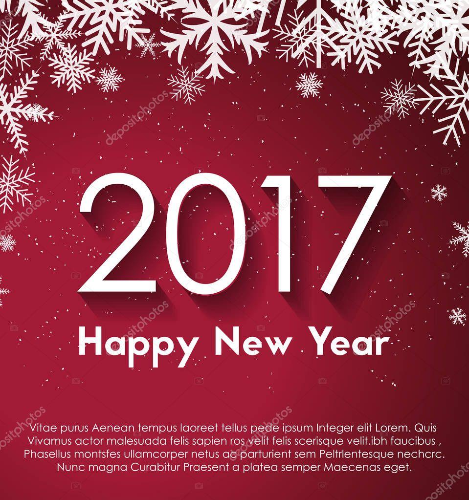 Happy New Year 2017 inscription