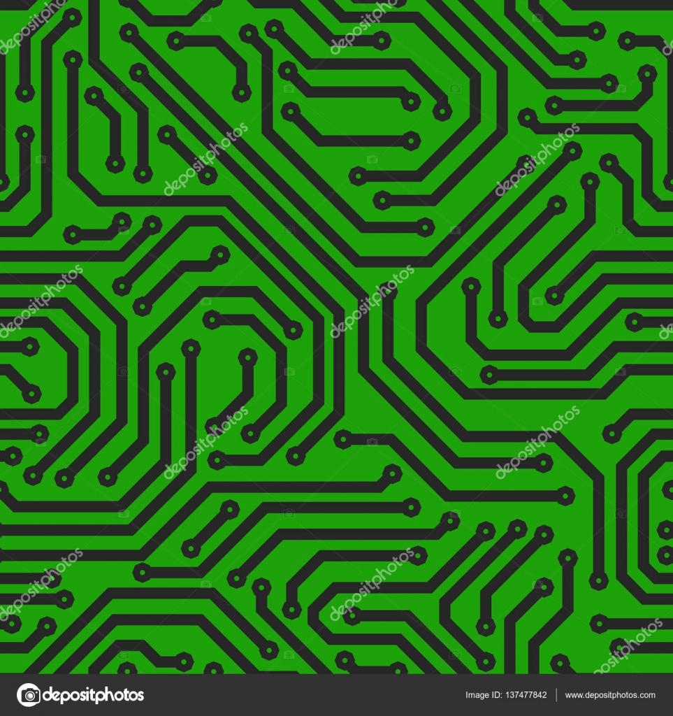 Circuito Impreso : Placa de circuito impreso u archivo imágenes vectoriales