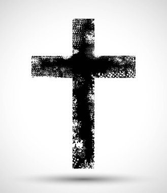 Grunge Christian cross