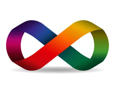 Seamless rainbow ribbon