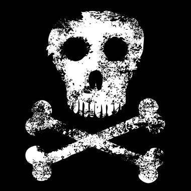 Abstract skull with crossed bones
