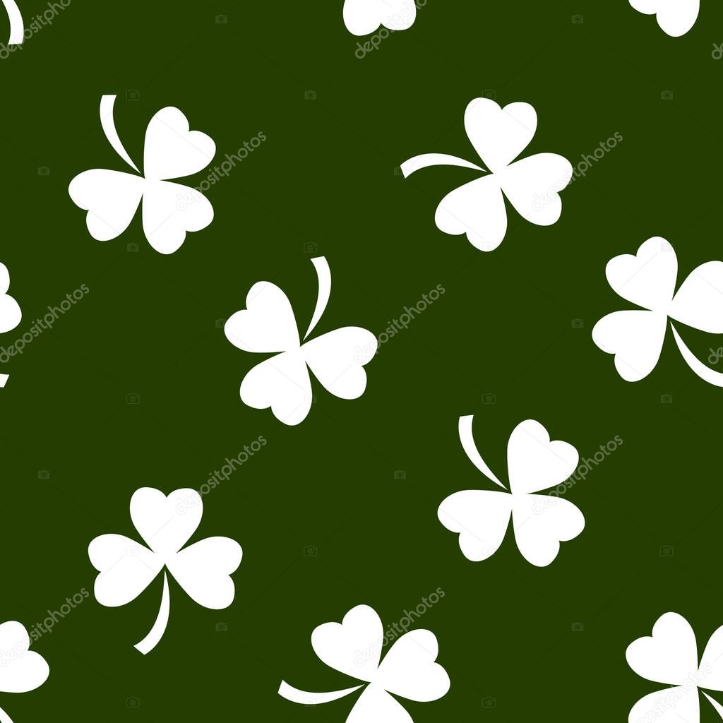 pattern made from cloverleaves