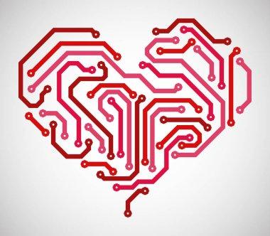 heart look like circuit board