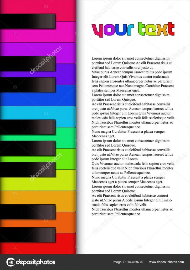 Piano Keyboard Template Stock Vector