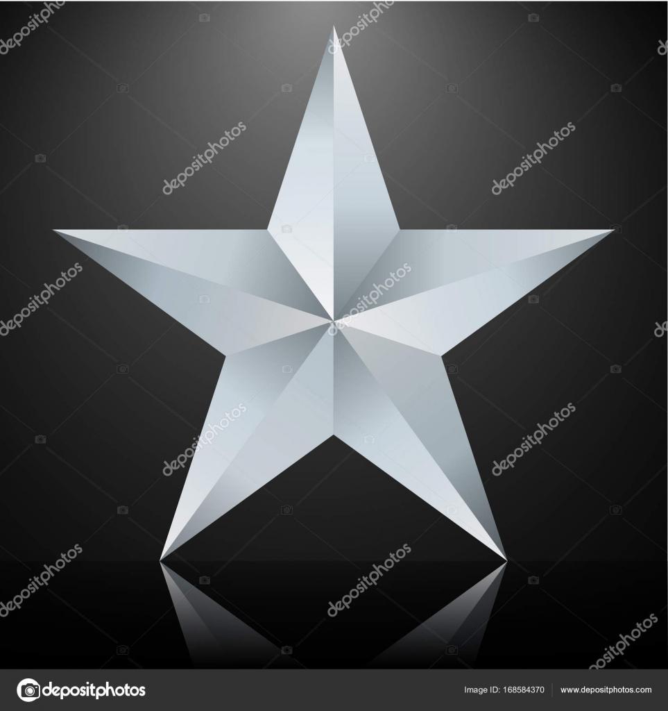 Fünfzackigen Stern Silber — Stockvektor © JonnyDrake #168584370