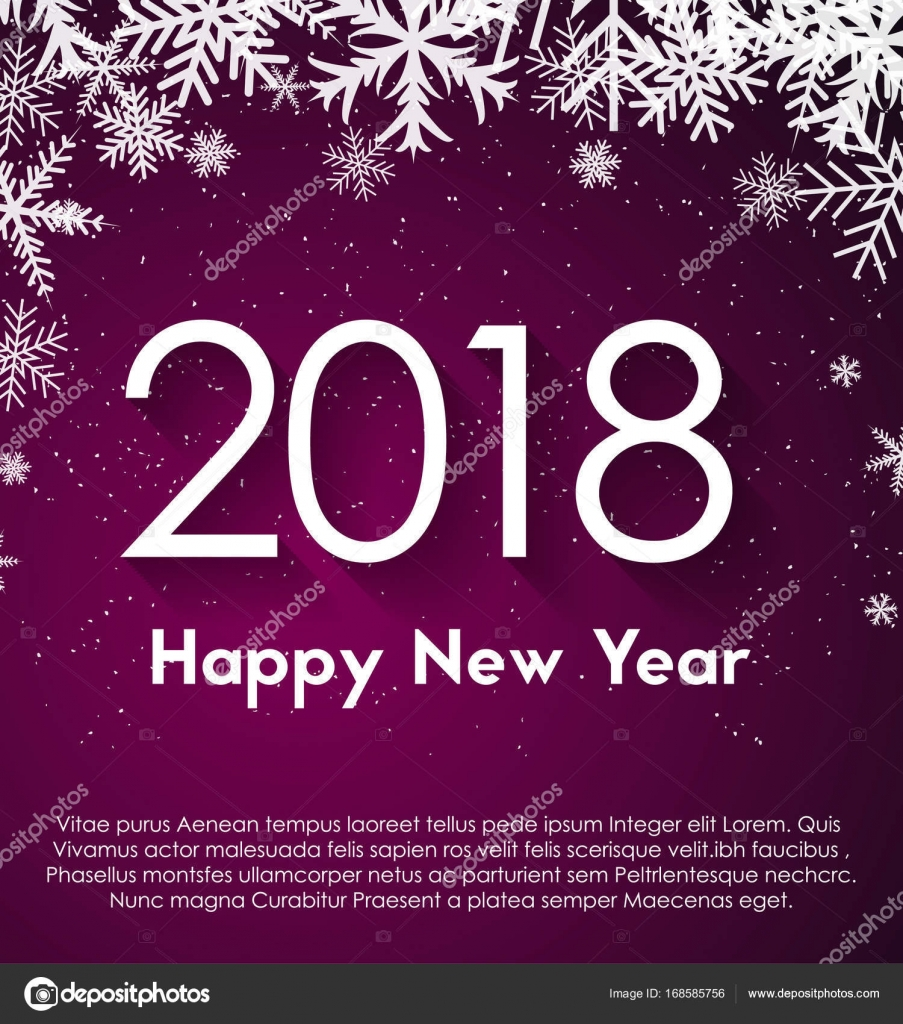happy new year 2018 theme stock vector