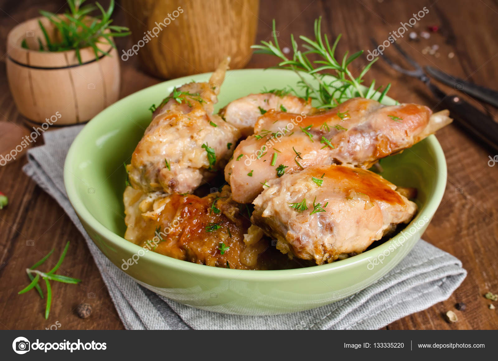 Rabbit in the oven in sour cream - tasty, fast, healthy 90