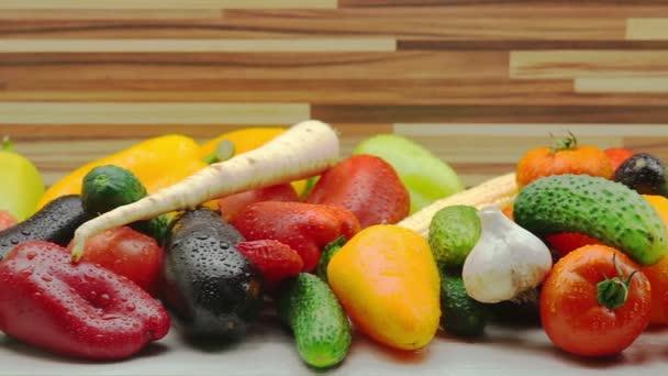 Lövés a friss organikus zöldségek nyomon követése
