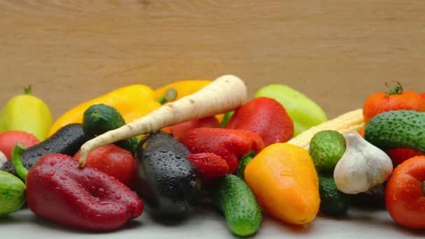 Záběrem čerstvé biozeleniny