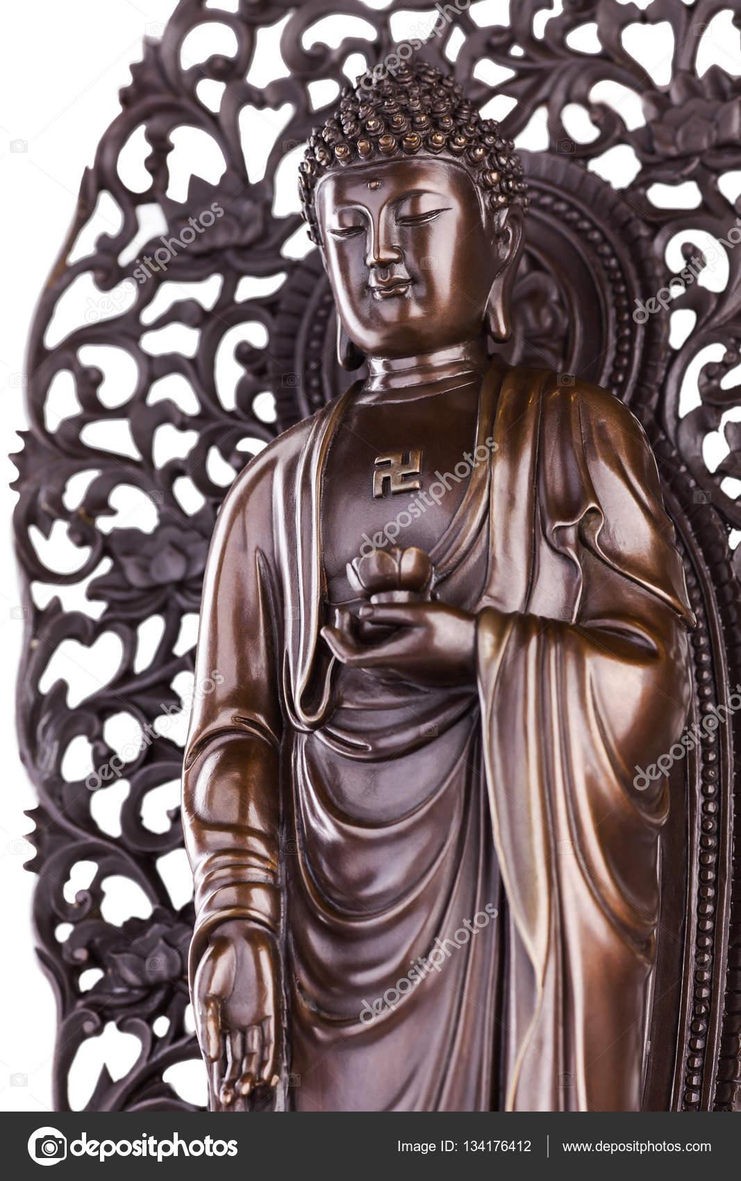 Buddha Mit Lotus Und Ein Hakenkreuz Stockfoto Dymovd 134176412