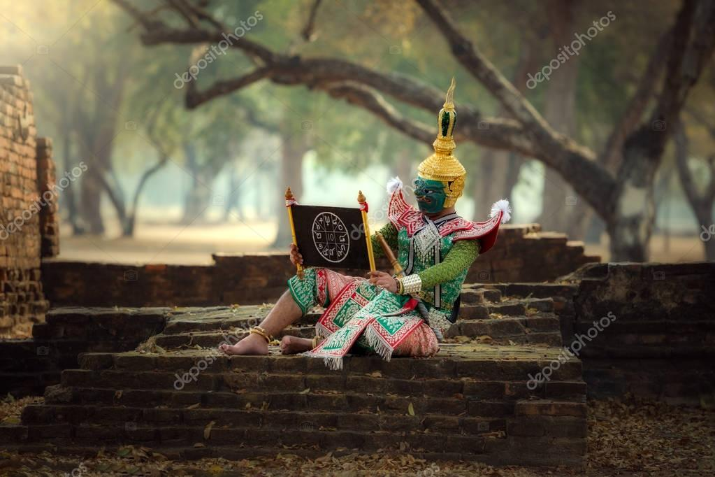 KHON THAILAND The charecter in Ramayana Story