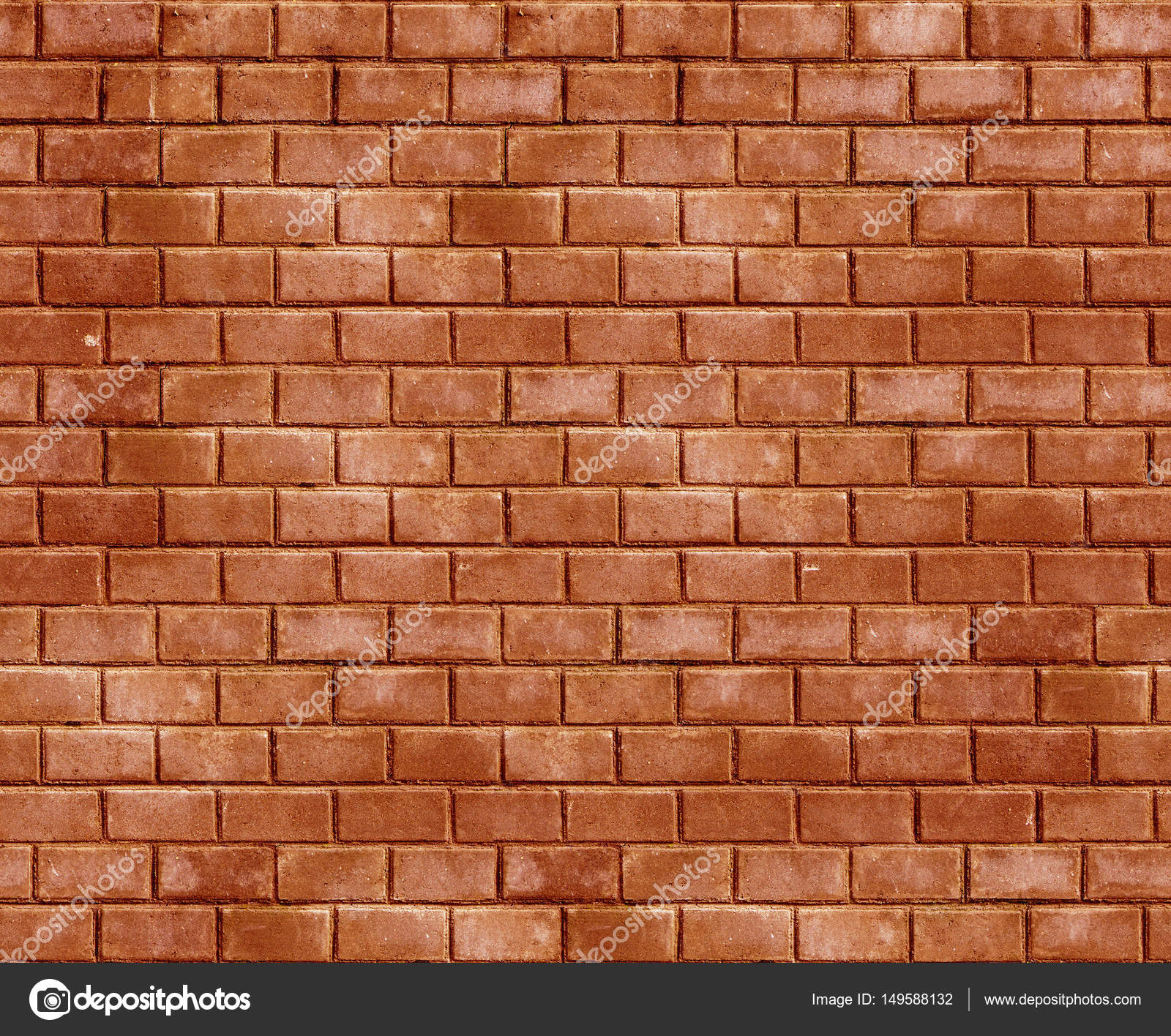 Background Of Old Vintage Brick Wall Red Seamless