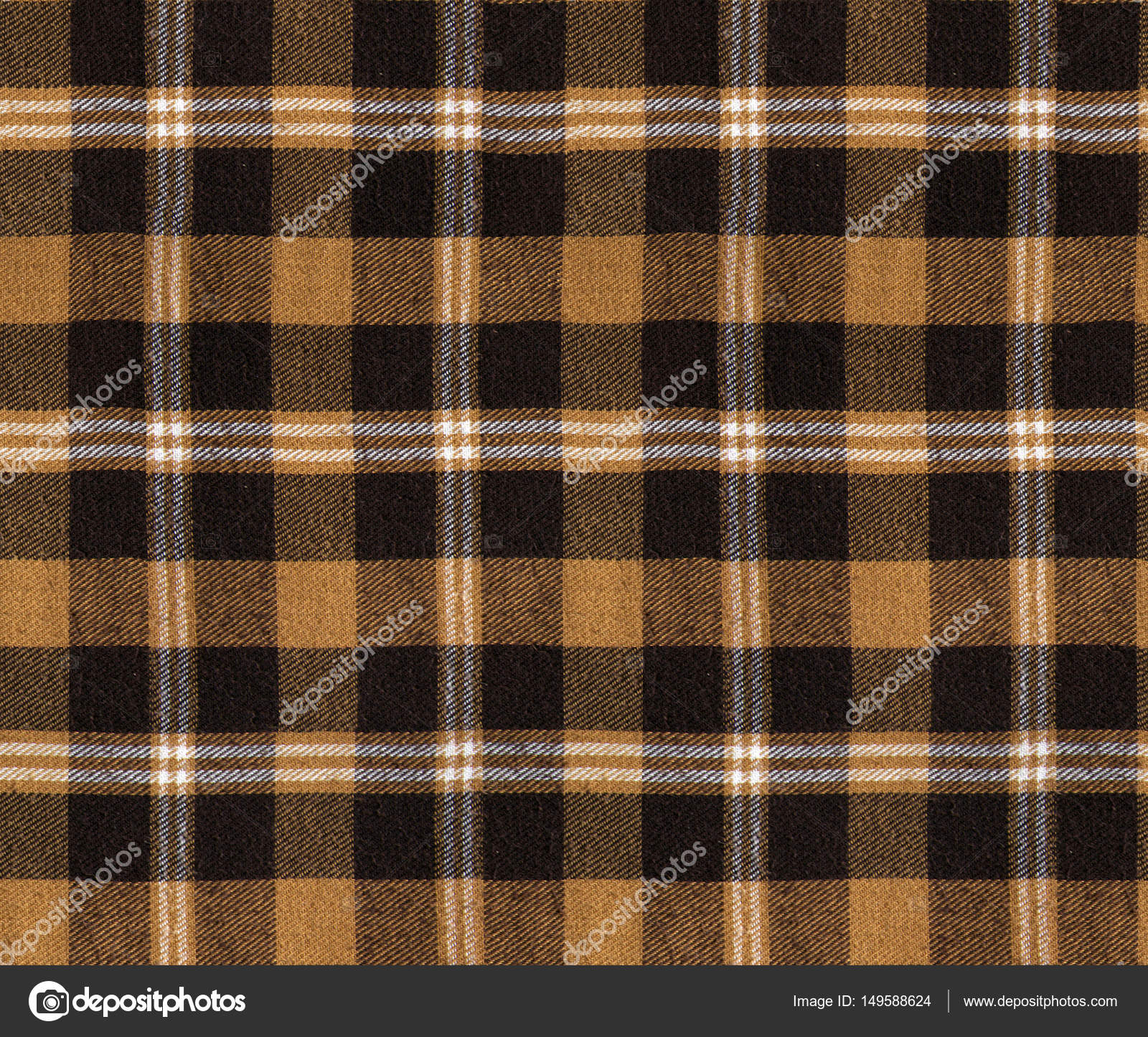 Fabric Plaid Texture. Cloth Background. Plaid Seamless Pattern / Checkered  Table Cloth Background. Brown Color U2014 Photo By Ann_minsk