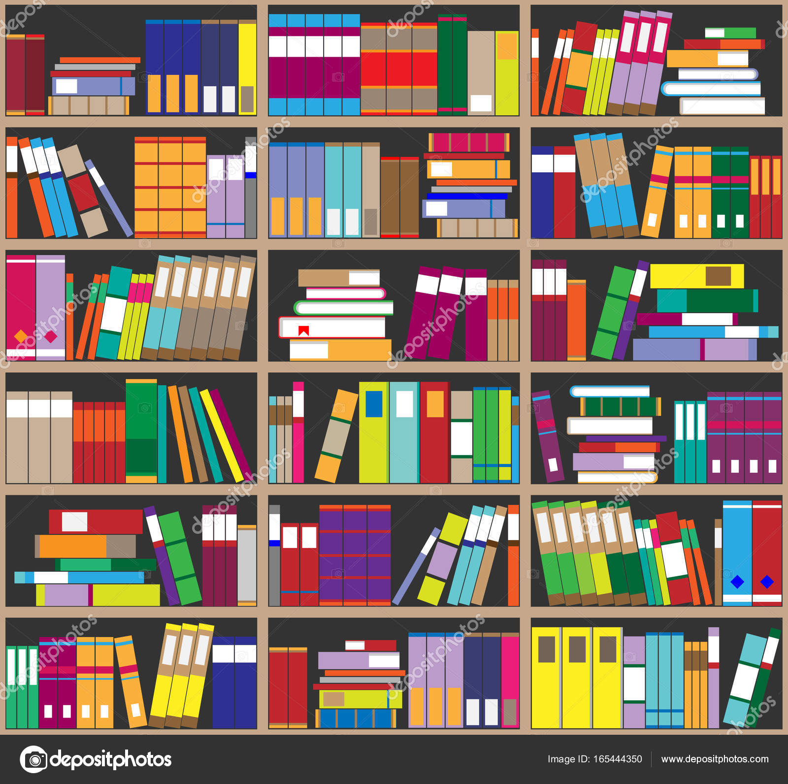 Fond De L Etagere Etageres Pleines De Livres Colores Accueil