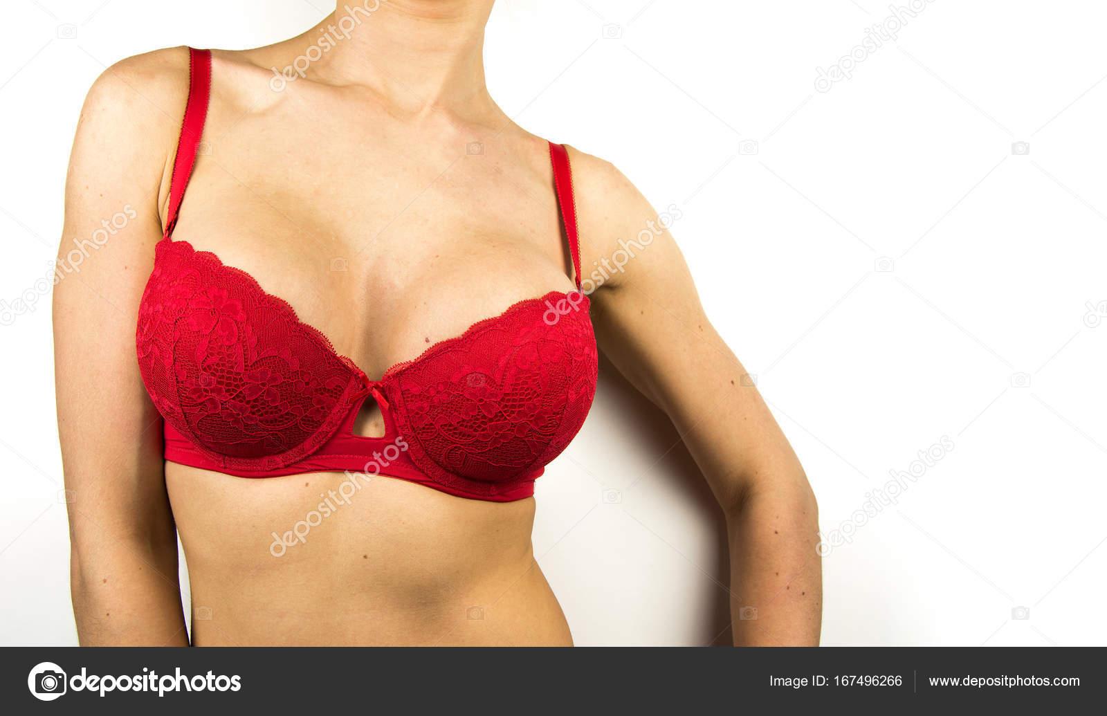 Wearing bra. Close-up of women wearing bra beautiful part of female body.  Breast care. 8eae37bc9