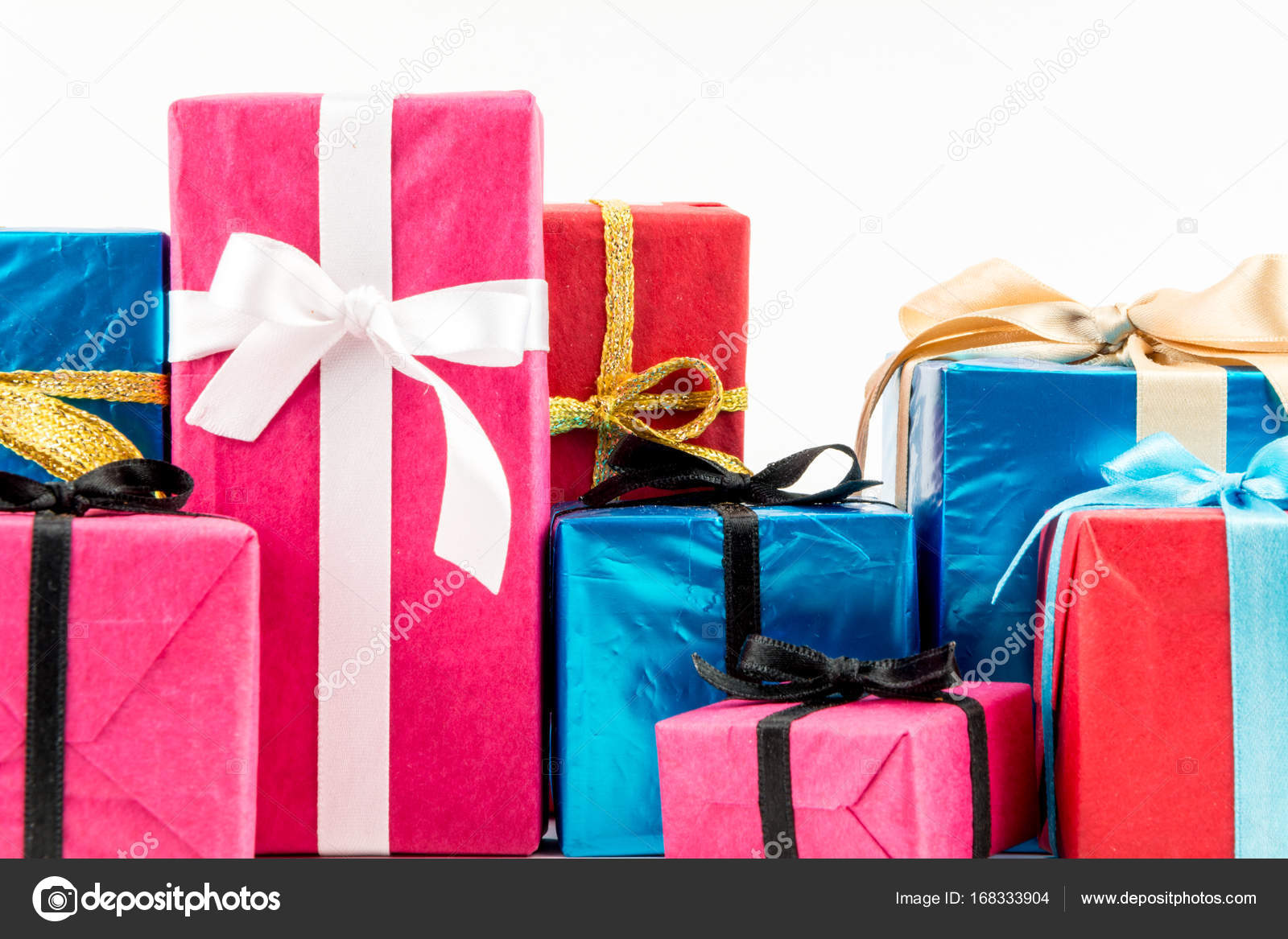 Big pile of colorful wrapped gift boxes isolated on white background big pile of colorful wrapped gift boxes isolated on white background mountain gifts beautiful negle Image collections