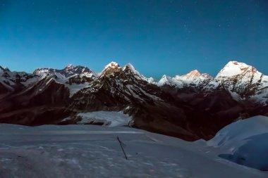Night View of Altitude Mountains