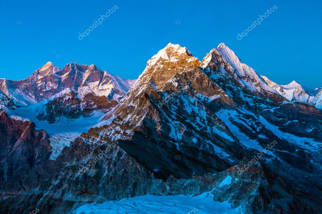 Night View of Altitude Mountains