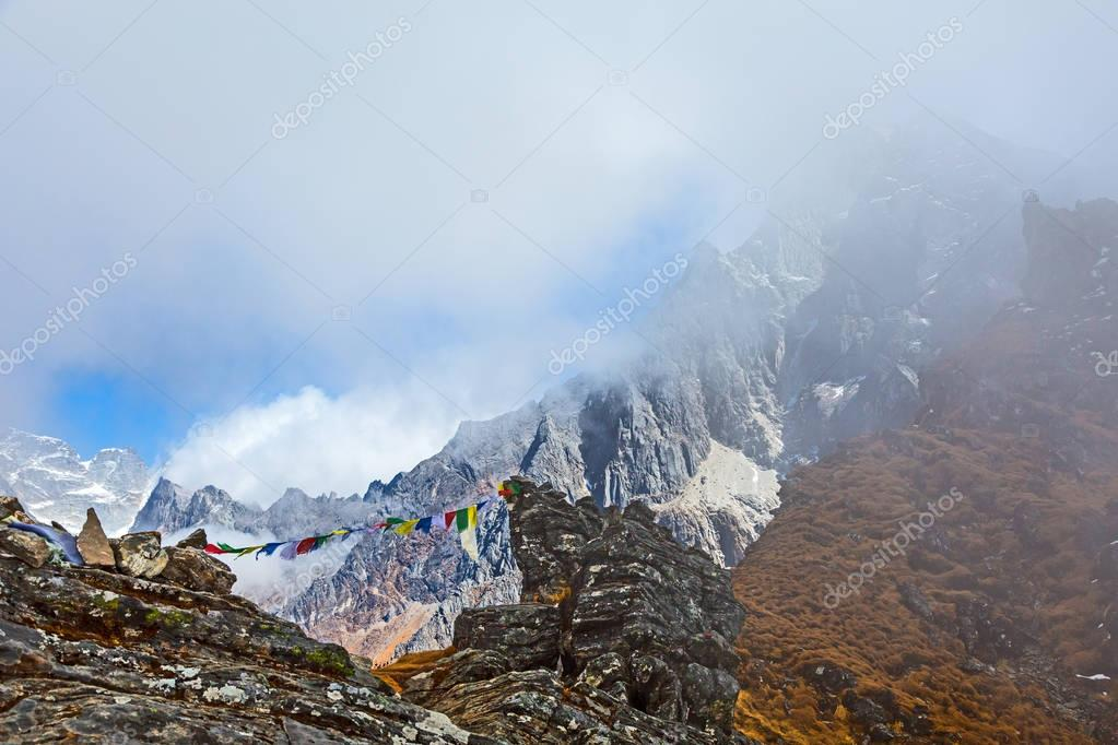High Peaks Range and Prayer Flags