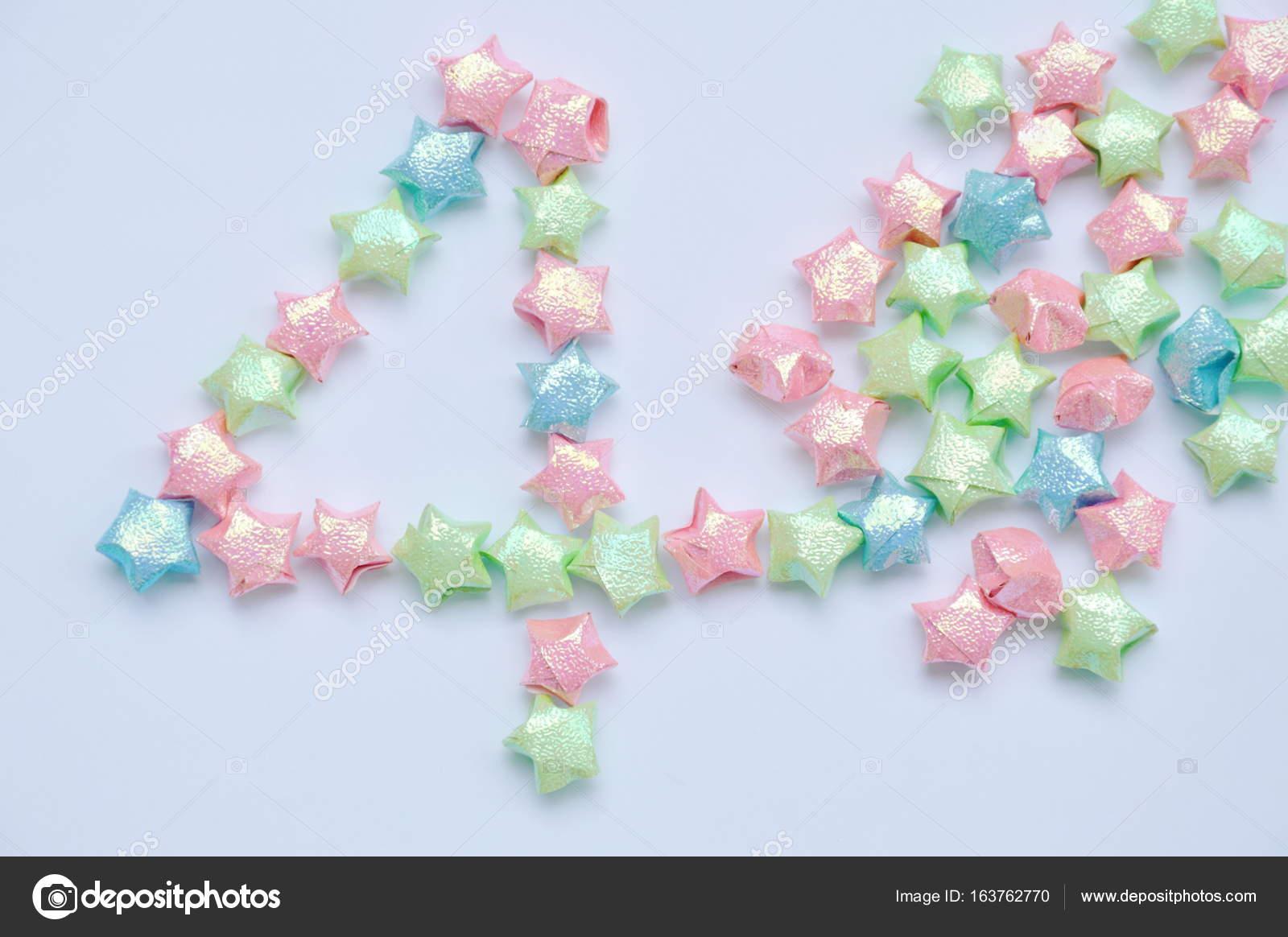 estrella papel organización de conceptos número cuatro cuarto de ...