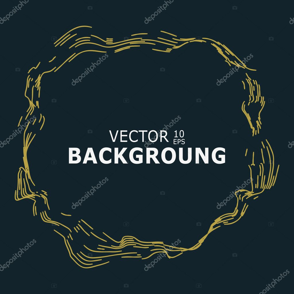 Vintage backdrop design gold engraving lines on black background gold engraving lines on black background place for text engraving backdrop for invitations greeting cards vintage posters vector illustration stopboris Image collections