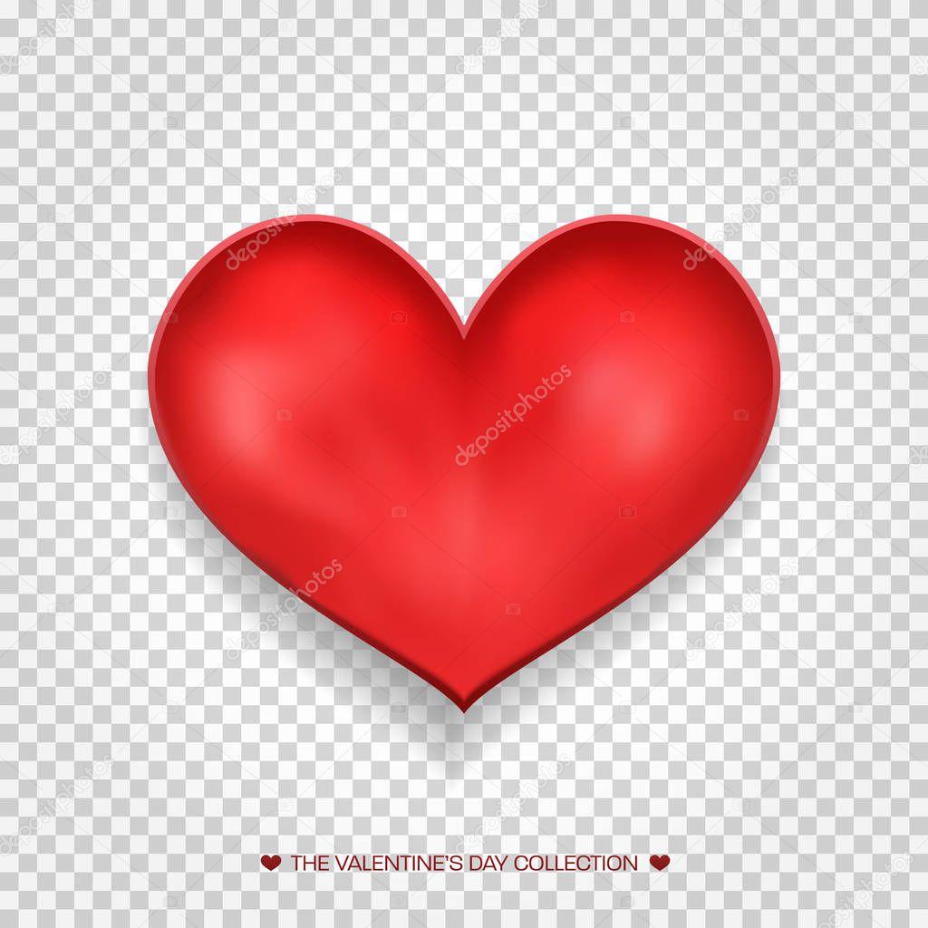 gros coeur rouge isol sur fond transparent l ment romantique r aliste pour mariage. Black Bedroom Furniture Sets. Home Design Ideas
