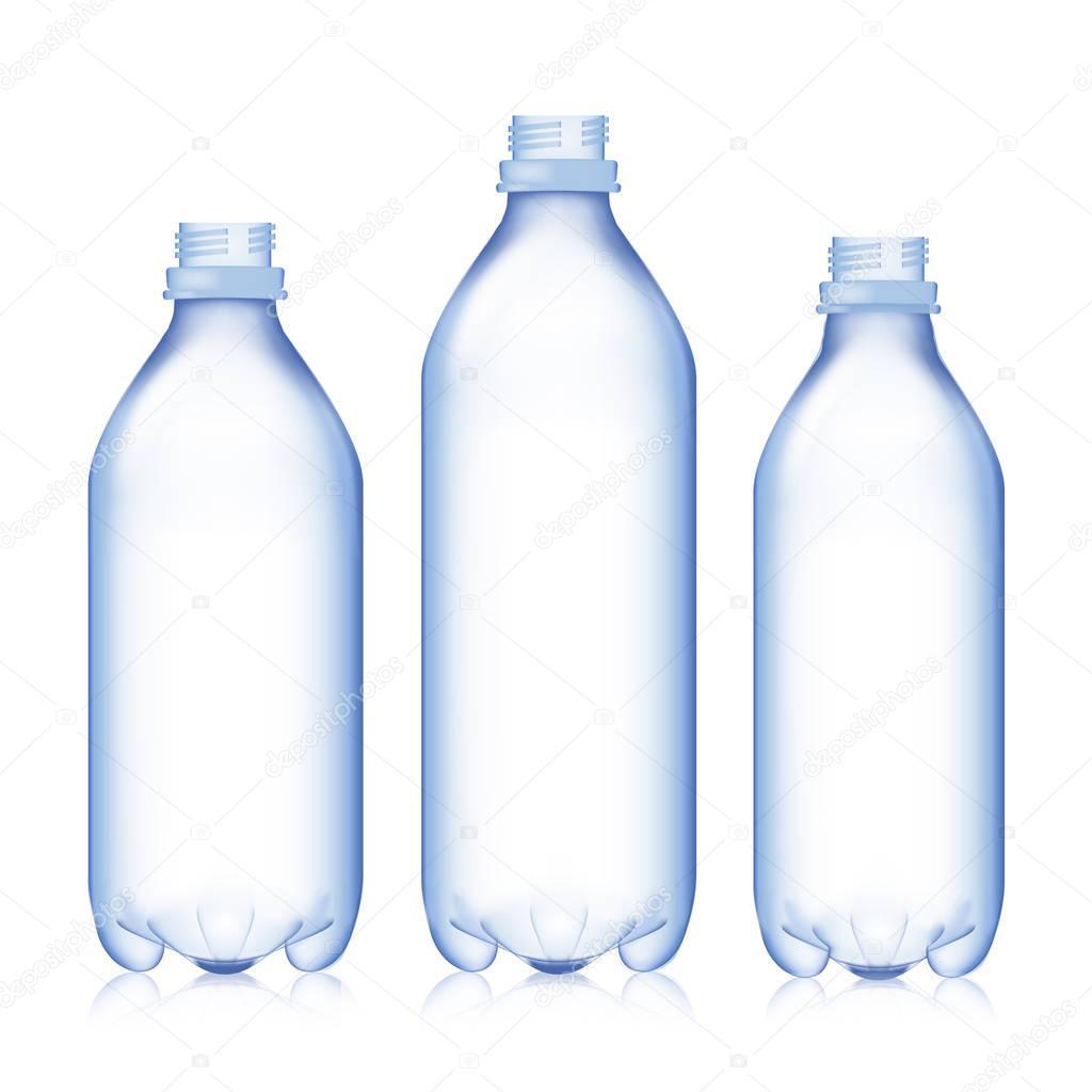 bouteille vide la valeur r aliste vide en plastique bleu bouteille d eau maquette pour votre. Black Bedroom Furniture Sets. Home Design Ideas