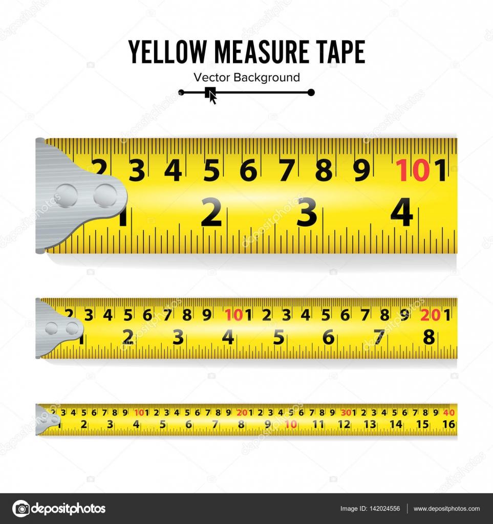 vecteur de bande de mesure jaune centimètre et pouce illustration
