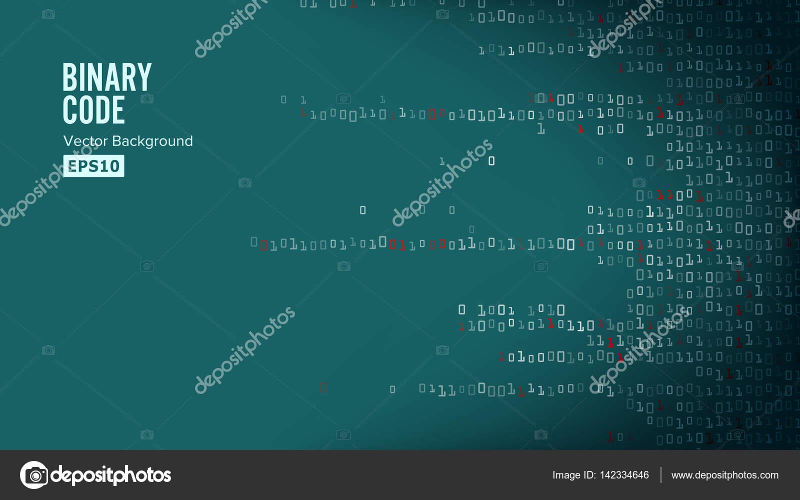 Binary Code Background Vector  Algorithm Binary, Data Code