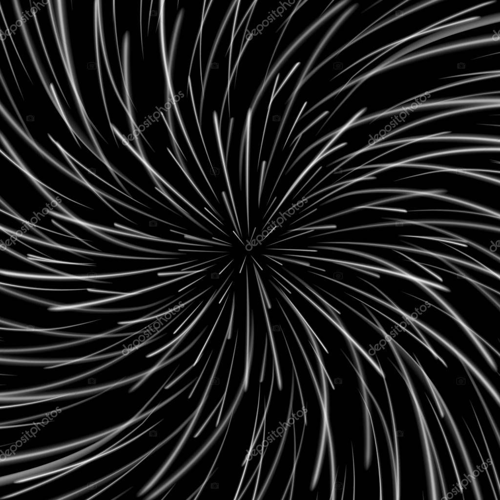 Space Vortex Vector. Abstract Background With Star Warp, Stars Burst Or Hyperspace.