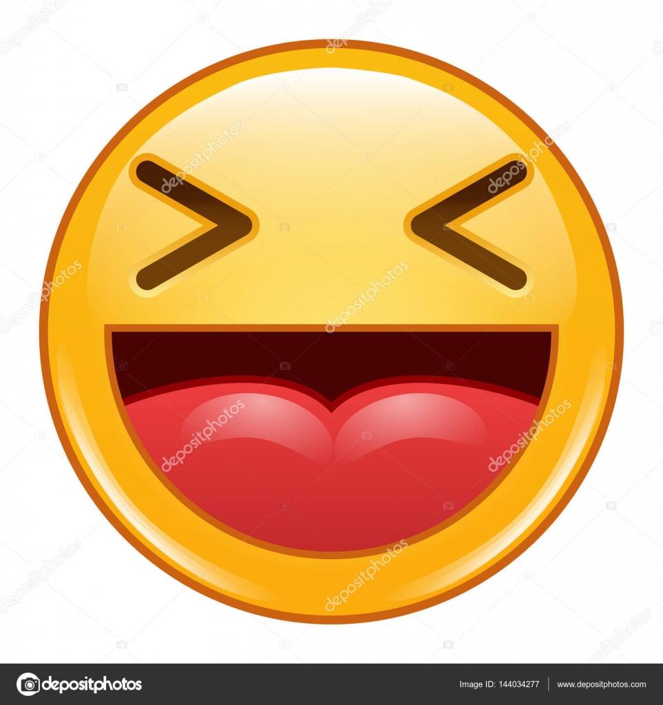 Vector Emoticones Riendo Emoticonos Emoji Icono Vector Smiley