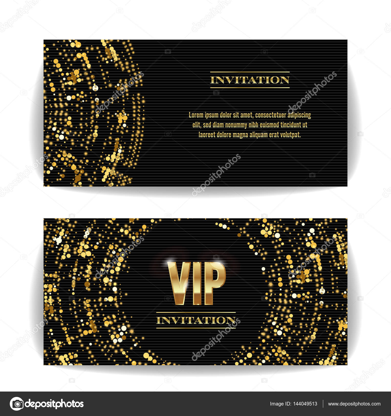 Vip invitation card vector party premium blank poster flyer vip invitation card vector party premium blank poster flyer black golden design template spiritdancerdesigns Image collections