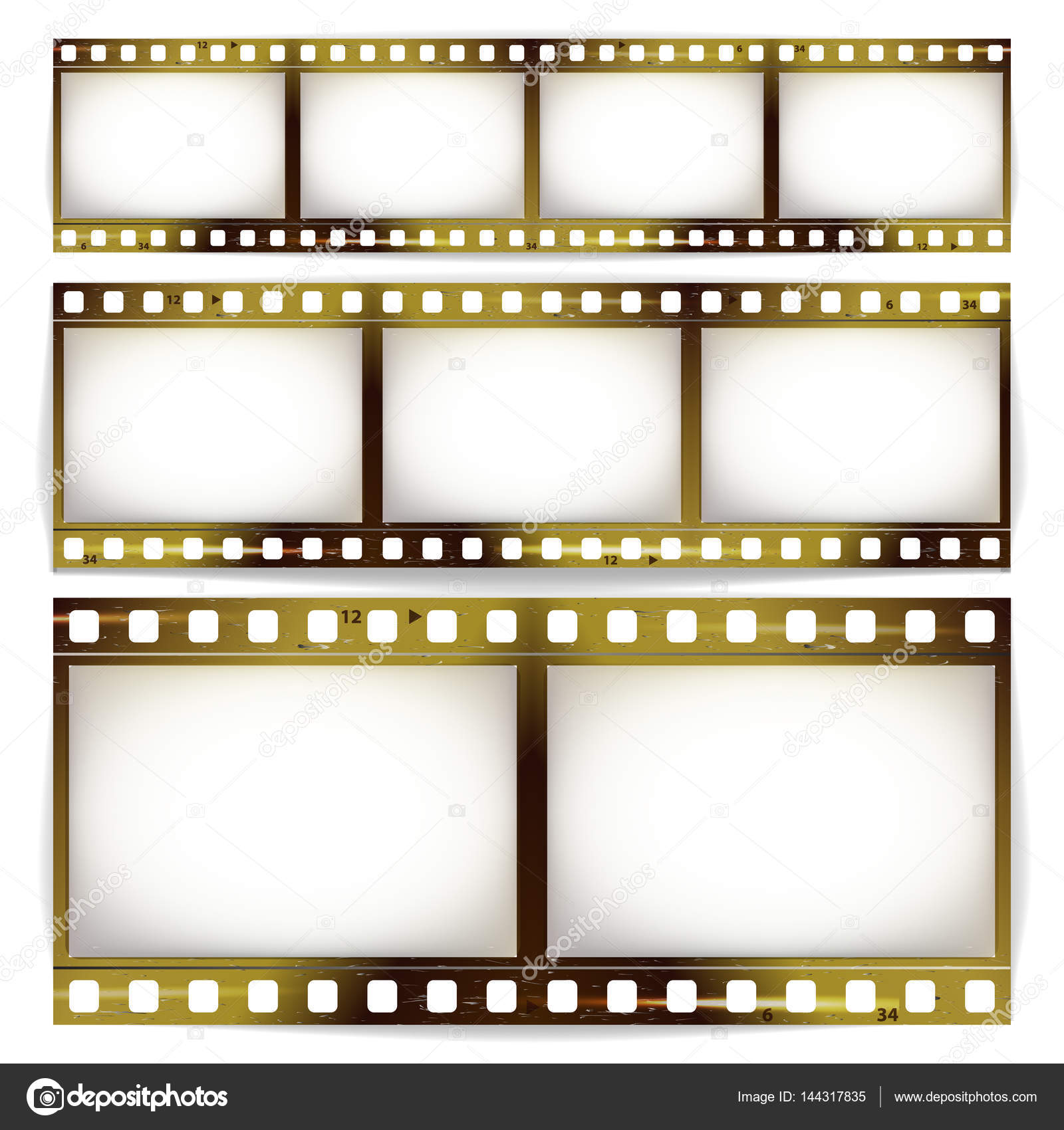 Film strip vector set cinema of photo frame strip blank scratched film strip vector set cinema of photo frame strip blank scratched isolated on white background jeuxipadfo Image collections