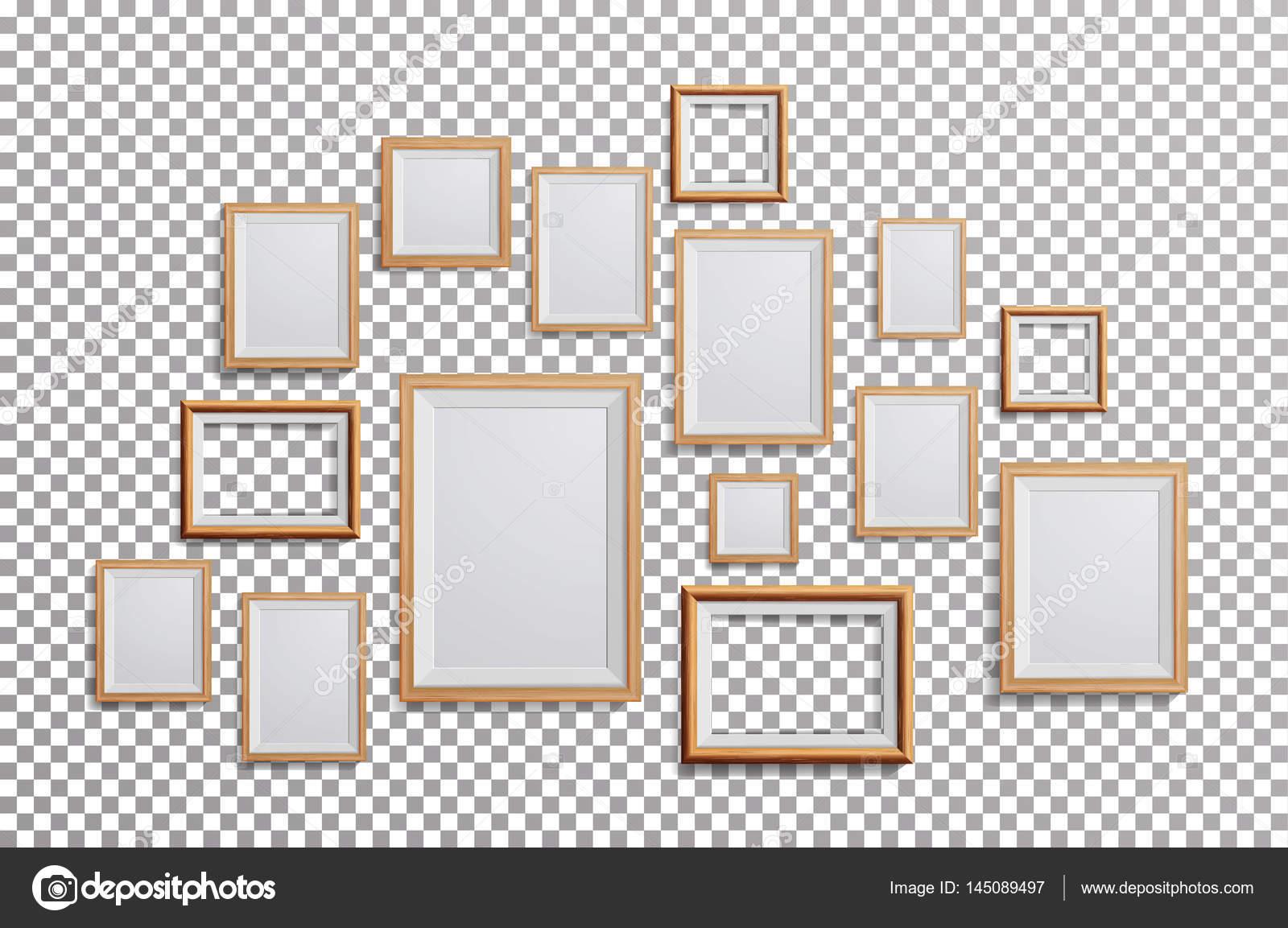 Vector de marco de foto realista. Escuadra, A3, A4 tamaño ligero ...