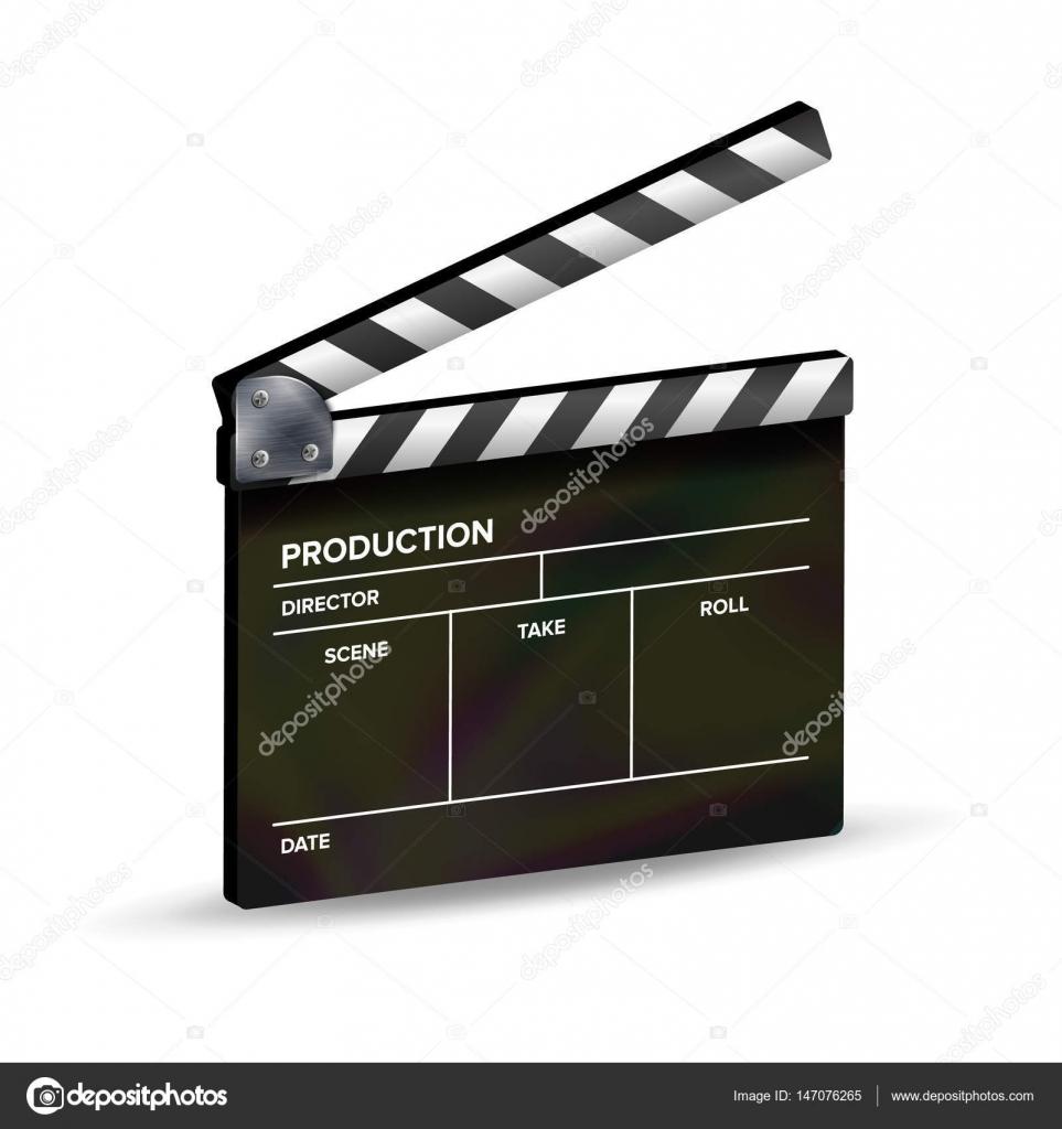 Clapper Board Vektor. Vorlage-Schindeln. Film Equipment ...