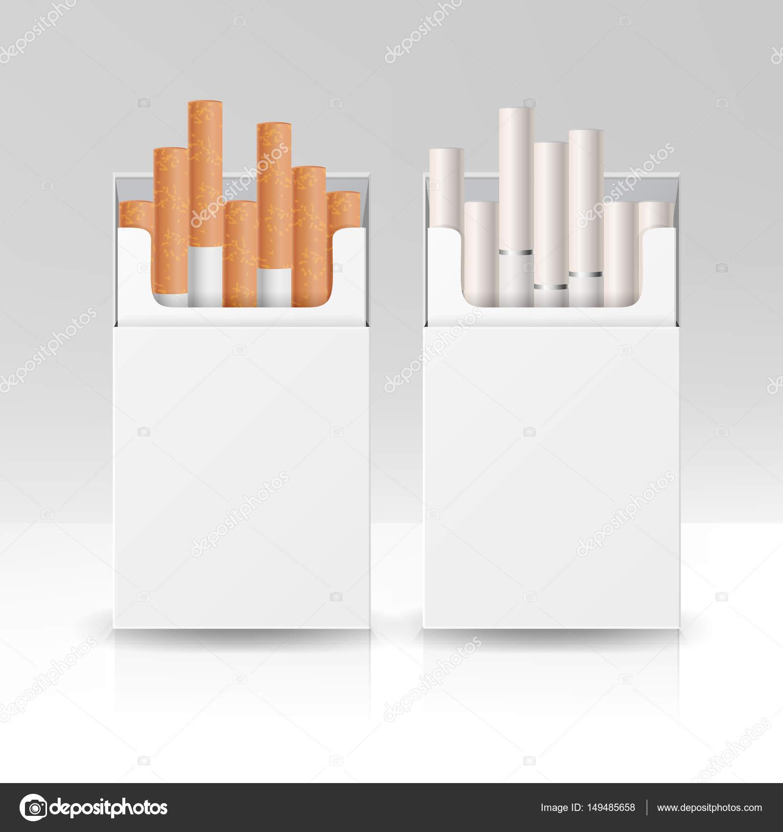 Blank Box Pacchetto Pacchetto Di Sigarette Modello Di Vettore 3d Per