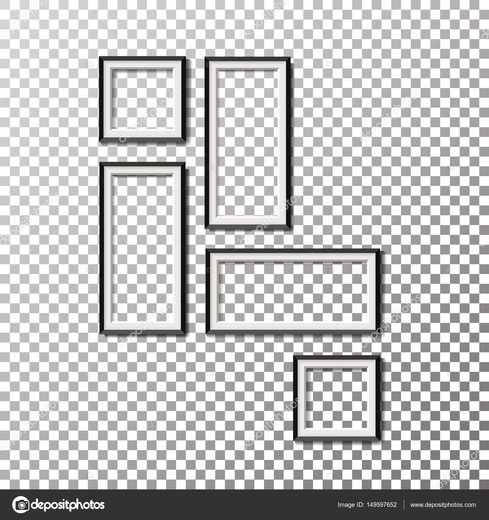 Imagen en blanco plantilla marco composición Set Vector aislado ...