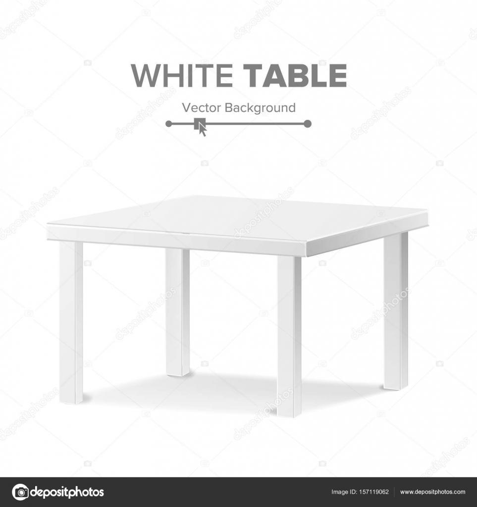 Leere Tabelle Vektor. Isolierte Möbel, Stand. Reinigen Sie Stand ...