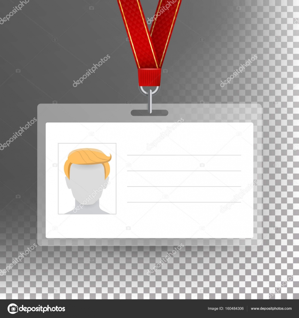 Employee Card Vector Blank. Identification Card Template. White ...