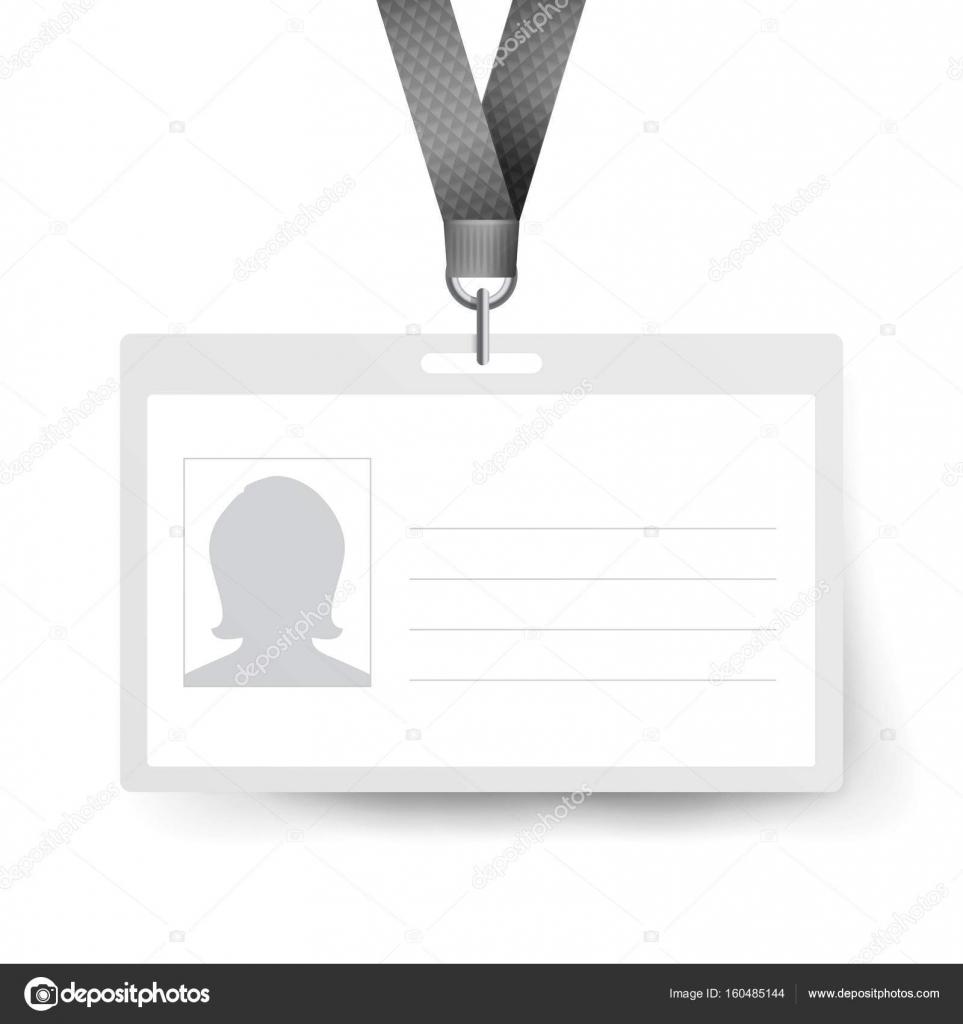 Tarjeta de identificación realista Vector plantilla. Etiqueta de ...