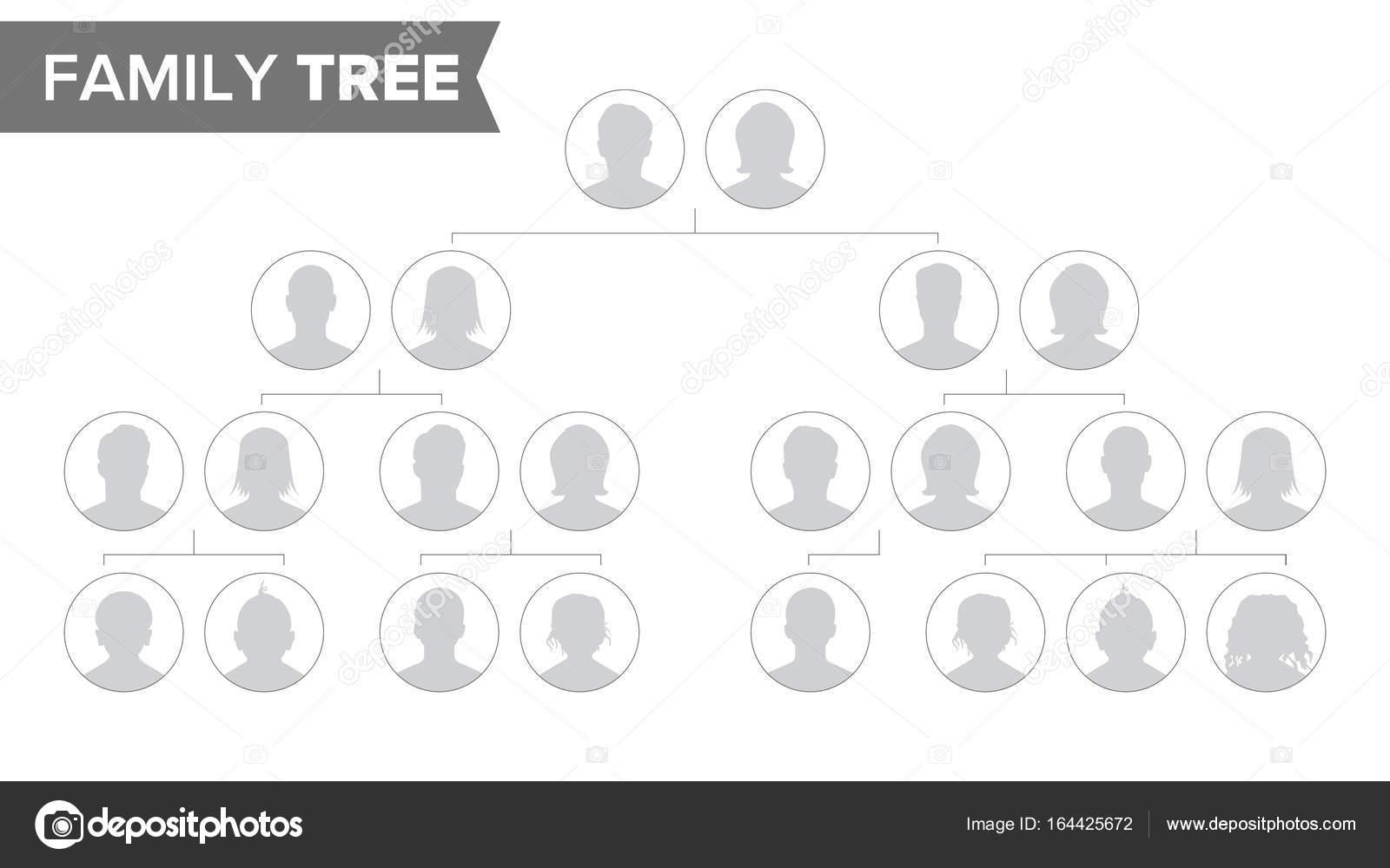 Stammbaum Vorlage Vector. Geschichte der Familie Baum mit Standard ...