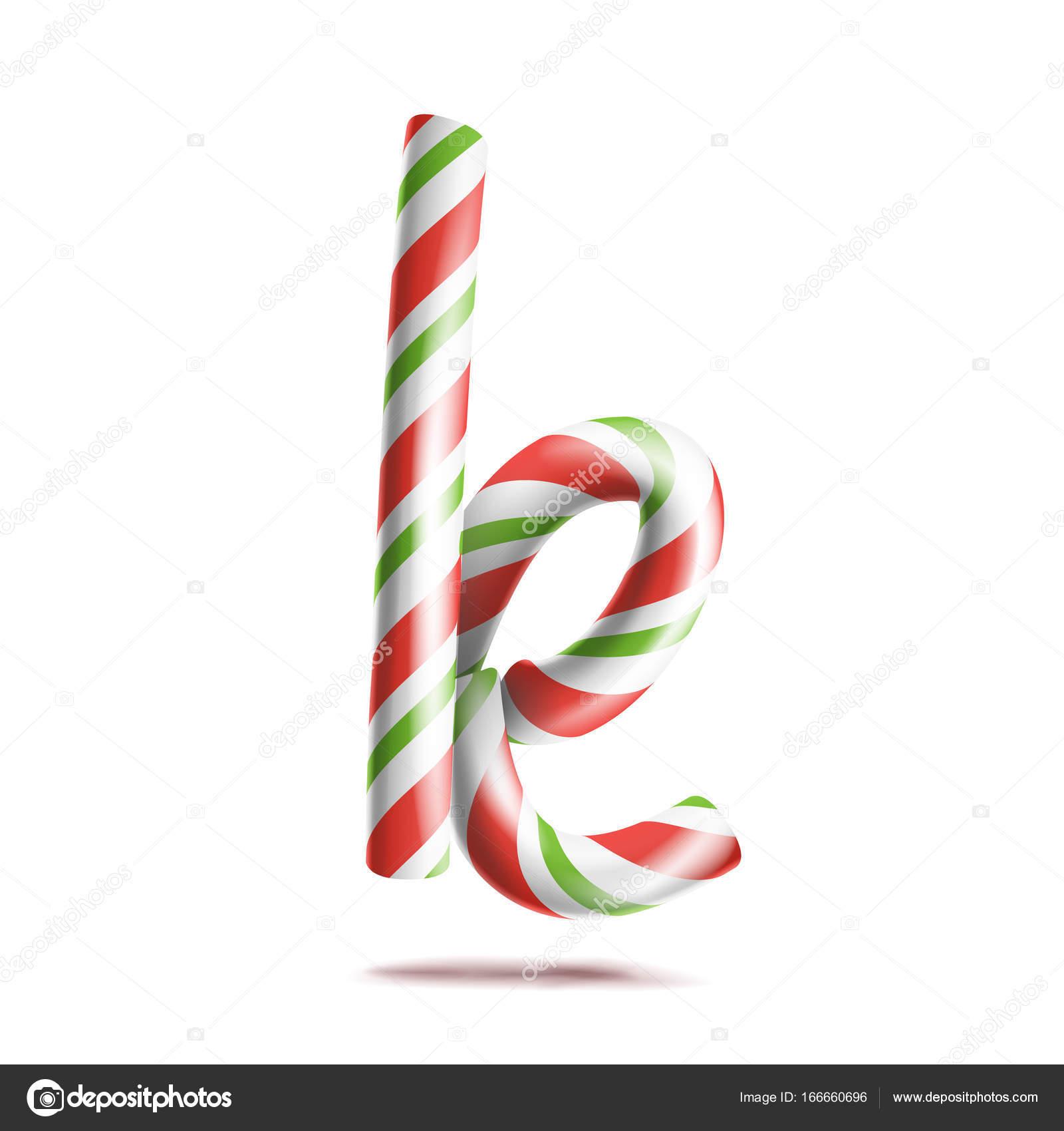 Vector de la letra K. 3D símbolo de alfabeto realista bastón de ...