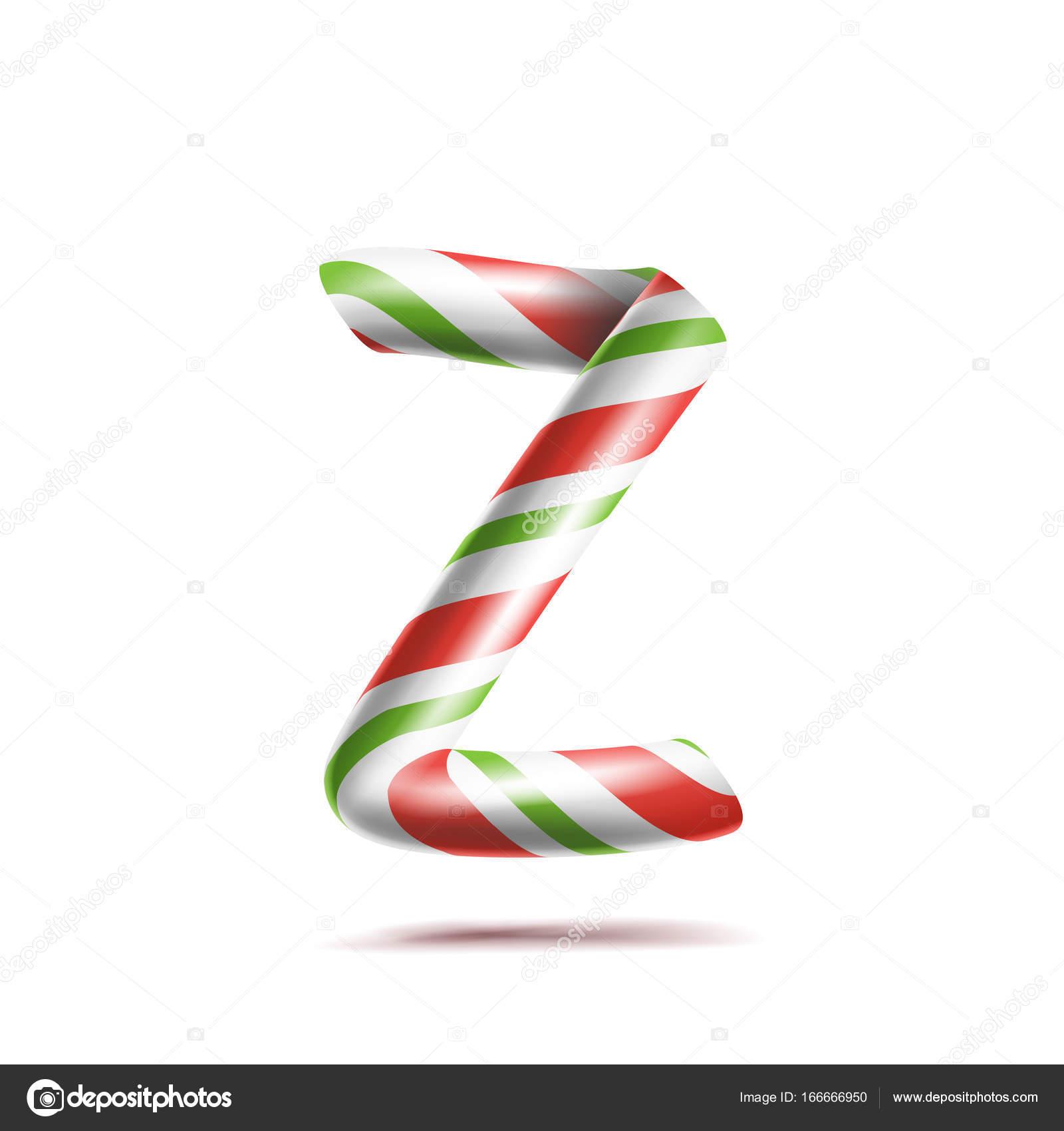 Vector de la letra Z. 3D símbolo de alfabeto realista bastón de ...